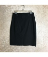 Karen Millen England Size 8 Skirt Black Career Womens A Line Dressy Skirt - $48.02