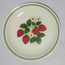 "Strawberry Dinner Plate Roycroft Stoneware 10 1/4"" Vintage - $17.15"