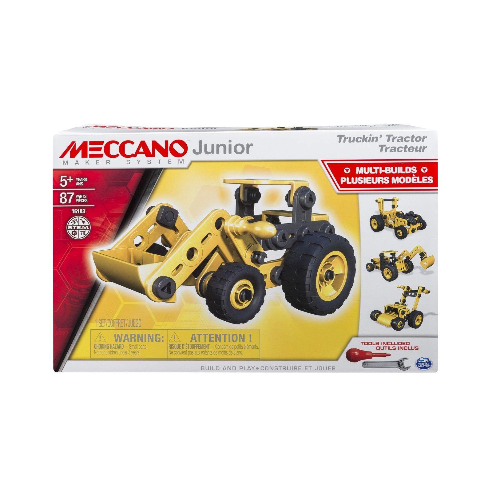 Meccano Junior, Truckin' Tractor, 4 Model Building Set, 87 Pieces [New]