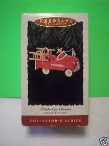 HALLMARK KEEPSAKE KIDDIE CAR CLASSIC FIRE TRUCK SERIES