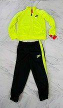 Boys'  Neon Green Nike Athletic 2 Piece Set Jacket and Joggers Size 6 NWT - $23.74
