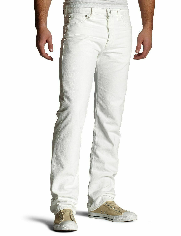 Levi's 501 Men's Original Straight Leg Jeans Button Fly White 501-0651