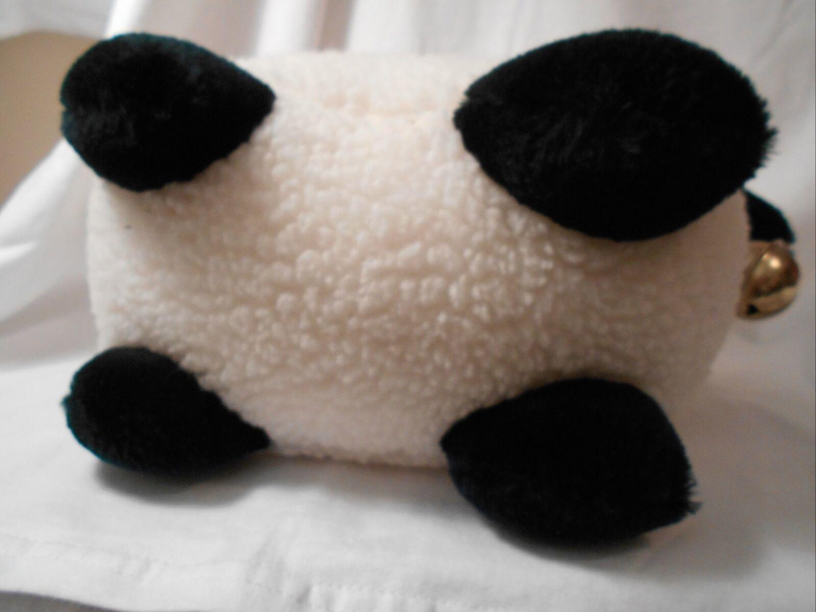 "Mary Meyer Plush Fluffy Lamb Sheep WHite & Black 14"" Lgth 8.25"" tall CUTE"