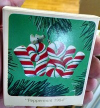 Hallmark 1984 Peppermint Ornament Vintage In Box e39 - $6.90