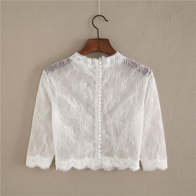 Bridesmaid lace tops crop 5