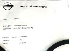 BAG OF 2 NEW AMERSHAM BIOSCIENCES 44-5494-46 FLAT GASKETS AIR TRAP OD 263mm image 2