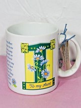 AVON To My Aunt Coffee Cup Mothers Day Collectors Mug Vintage Gift - $18.53