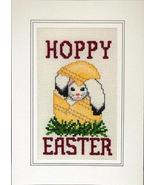 Hoppy Easter holiday cross stitch card chart Linda Jeanne Jenkins - $5.40