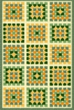 Latch Hook Rug Pattern Chart: Granny Square Quilt - EMAIL2u - $5.75