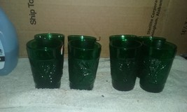 forst green  anchor  hocking  glass   juice gla... - $25.85