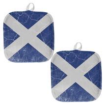 Scottish Flag Distressed Grunge Scotland All Over Pot Holder (Set of 2) - $18.95