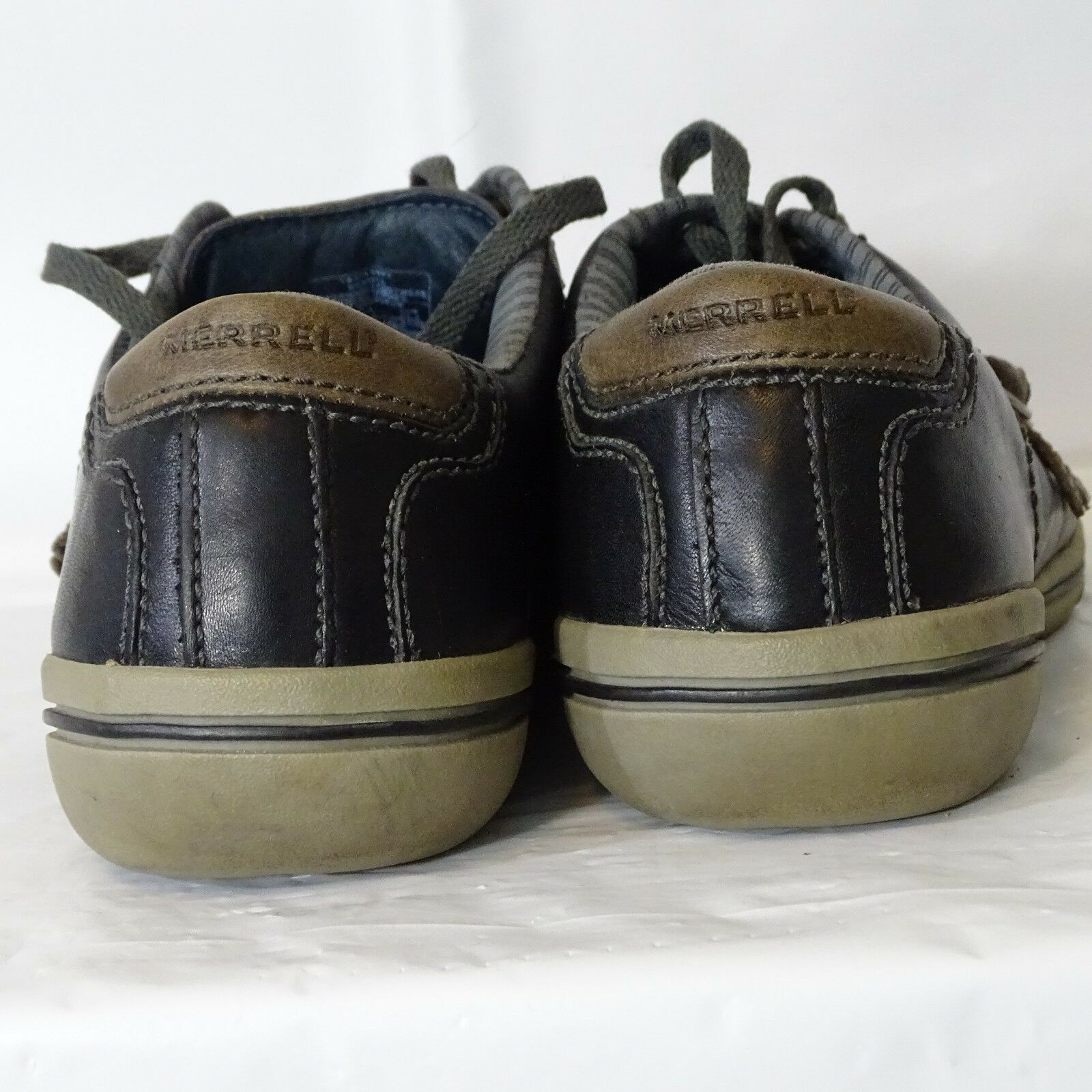 Merrell Lace Up Shoes Vesta Buckled Straps Women Size 8 Navy Blue Brown