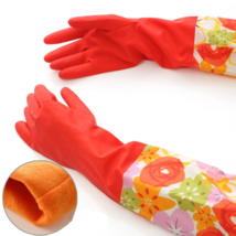 Household Gloves Dish Washing Waterproof Bathroom Dust Cleaning Rubber H... - $6.92