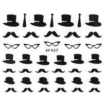 50pcs Stylish Ladies Women 3D Art Stickers color #10 size  image 2