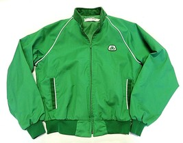 Swingster PIONEER SEEDS Green Zip Up Jacket Men's Size Medium Made in USA - $98.96