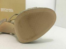 Michael Kors Simone Women's Evening High Heels Sandals Silver Sand Glitter 7 M image 10