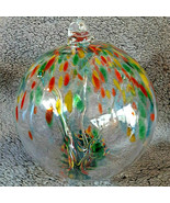 "Hanging Glass Ball 8"" Diameter ""Summer Tree"" Witch Ball (1) #25 - $33.66"