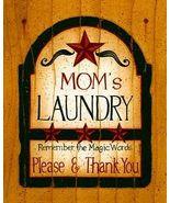 Mom's Laundry Folk Art Sampler Print Ready-to-F... - $4.75