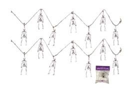 Bundle: 3 Items - (Pack of 2) Scary Skeleton Garland and Free Spider Web... - $12.29