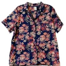 Liz Claiborne Sleep Top Size L Floral With Pocket New   - $4.99