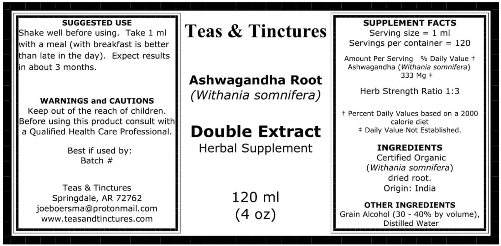 Ashwagandha double extract, herbal supplement, adaptogenic action immune support image 2