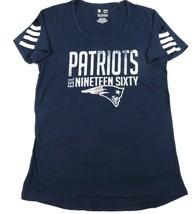 Women's New England Patriots Tee Shirt NFL Vintage est. 1960 Cut-out Sle... - $14.39