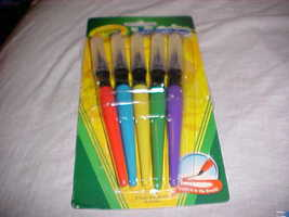 5 Crayola Wasability You Can Trust Paint Brushes Pend Non Toxic   Brand New - $2.99