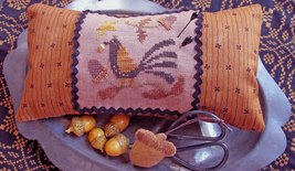 Acorn Lovers Needle Necessaires cross stitch chart with charm Homespun Elegance - $14.40