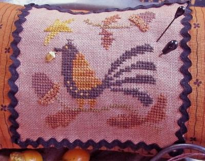 Acorn Lovers Needle Necessaires cross stitch chart with charm Homespun Elegance