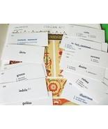 Vocabulary Cards Italian 30 Mixed Media Art Supplies - $8.99