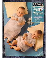Vintage Patons KNITTING Patterns CHRISTENING DRESS Outfits COAT BABY - $9.95