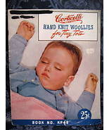 Vintage BABY KNITTING Patterns CORTICELLI TINY TOTS Hand Knit Woolies Ba... - $9.95