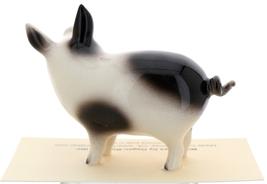 Hagen-Renaker Miniature Ceramic Pig Figurine Spotted Papa Pig image 3