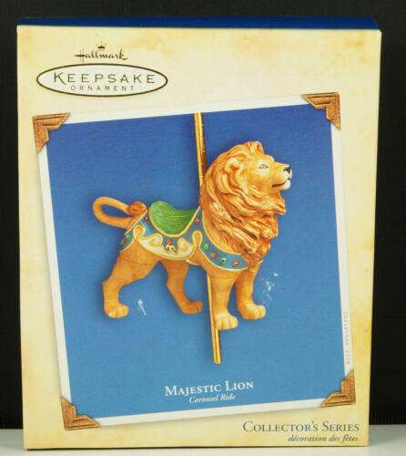 Primary image for Hallmark Ornament MAJESTIC LION CAROUSEL RIDE #1 in Series New in Box 2004