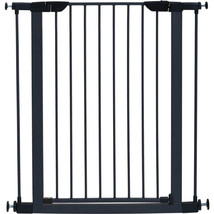 Midwest Homes For Pets Graphite Steel Glow Stripe Pet Gate 39h X 29-38w ... - $84.73