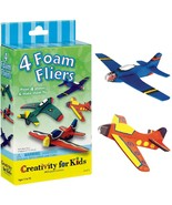 Creativity for Kids Four Foam Fliers Mini Craft Kit - Paint 4 Foam Airpl... - $13.49