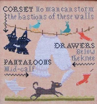 Pantaloons cross stitch chart Carriage House Samplings