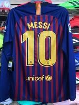 Nike Barcelona 2018/2019 Messi 10 Stadium Quality Long Sleeve Size Small - $128.70