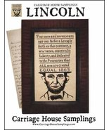 Lincoln cross stitch chart Carriage House Samplings - $9.00