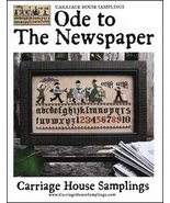 Ode To The Newspaper cross stitch chart Carriage House Samplings - $9.00