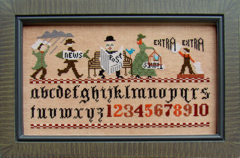Ode To The Newspaper cross stitch chart Carriage House Samplings
