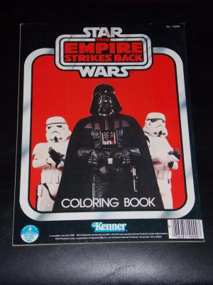 Vintage 1982 Star Wars the Empire Strikes Back Coloring Book Free Shipping