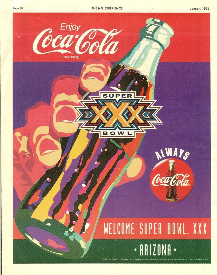 1996 super bowl XXX nfl experience guide program football rare