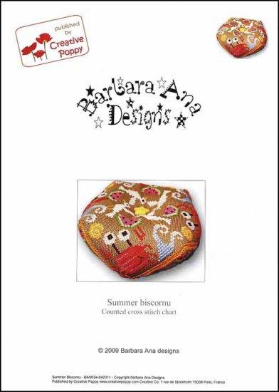 Summer Biscornu cross stitch chart Barbara Ana Designs