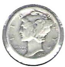 Nice 1937 P Mercury Dime - $4.00