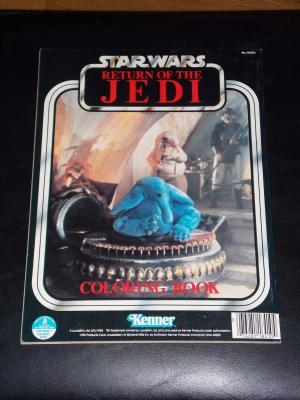 Vintage 1983 Star Wars Return Of The Jedi Coloring Book Free Shipping