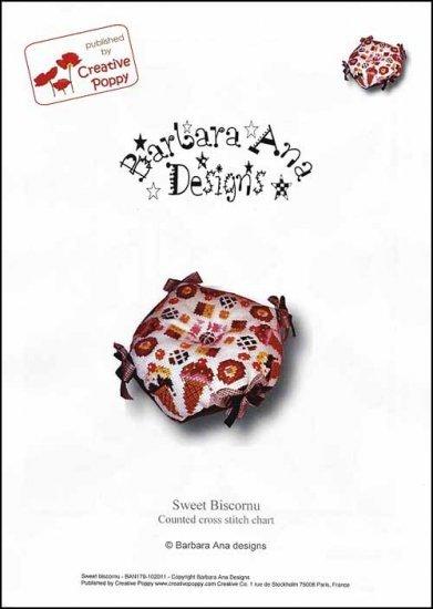 Sweet Biscornu cross stitch chart Barbara Ana Designs