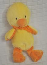 Carter's YELLOW Duck CHICK Yellow ORANGE Bow PLUSH Lovey 42024 BABY Beanbag - $14.85
