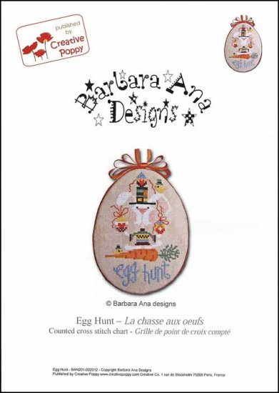 Egg Hunt cross stitch chart Barbara Ana Designs