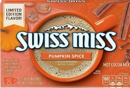 Swiss Miss Pumpkin Spice Hot Cocoa Mix 8 Sachets x 1.38 oz ( Pack of 3 ) - $19.79